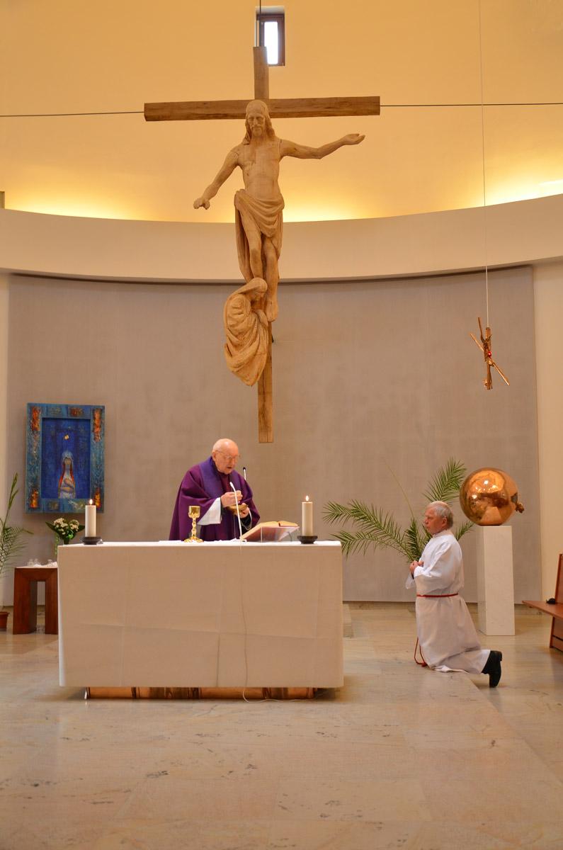 Kříž v Komunitním centrum Matky Terezy