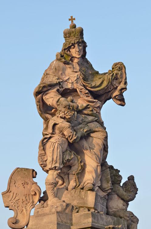 Praha, Karlův most, sv. Ludmila a sv. Václav